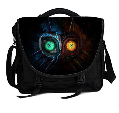 15 Inch Laptop / Notebook Shoulder Messenger Bag Briefcase- Majora Mask Print