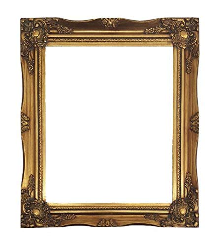 - ImpactInt Ornate Baroque Gold Painted Wooden Picture Frame (8x10 Inch)