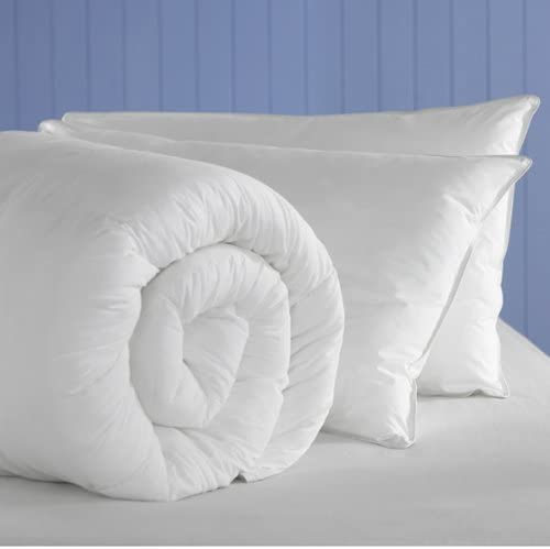 teabag type UK Made Hollowfibre Duvet//Quilt 10.5 Tog With 2 Bouncy Pillows King Sleep/&Smile Polyester Polyester Polypropylene