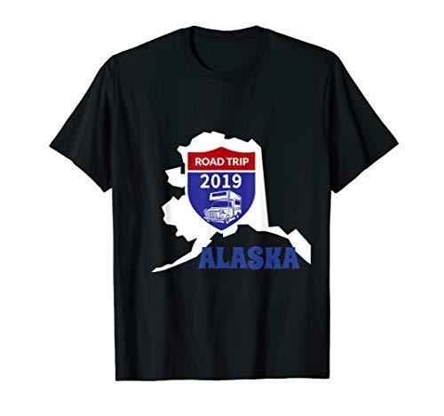 Alaska Road Trip 2019 RV camper motorhome road sign t-shirt