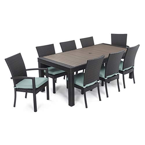 Deco 9pc Dining Set with Bliss Blue Cushions by RST - Dining Set Deco