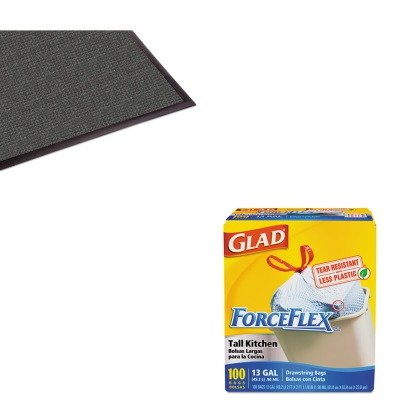 kitcox70427mllwg031004-value-kit-guardian-waterguard-indoor-outdoor-scraper-mat-mllwg031004-and-glad