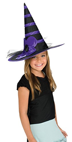 Rubie's Costume Child's Purple Daisy Witch Hat (Witch Girl Costume)