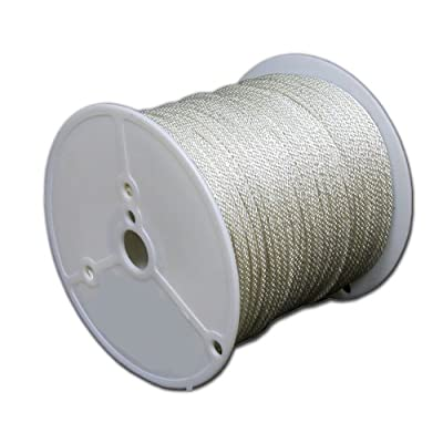 T.W Evans Cordage 44-620 3/16-Inch Solid Braid Nylon Rope 200-Feet Spool [5Bkhe0401330]