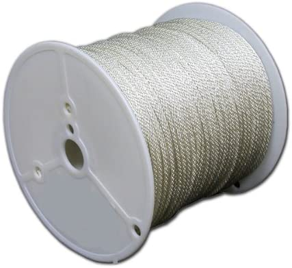 T.W Evans Cordage 44-048 1//8-Inch Solid Braid Nylon Rope 600-Feet Spool