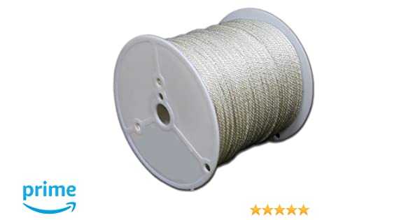 T.W Evans Cordage 47-400 1//8-Inch by 500-Feet Solid Braid Polyester Rope T.W Evans Cordage Co.