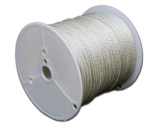T.W Evans Cordage 44-350 3/32-Inch Solid Braid Nylon Rope 500-Feet Spool