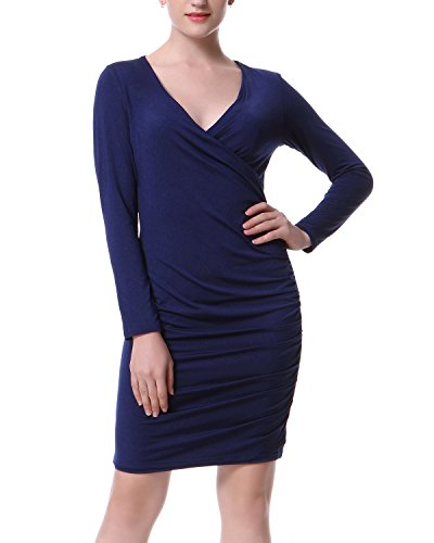 Surplice V-Neck Dress - 7