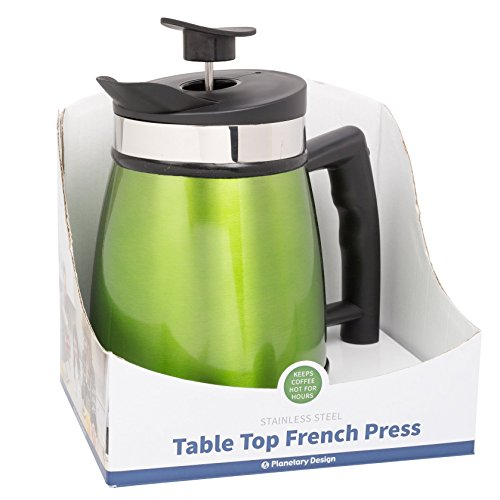 French Press Tabletop Coffee and Tea Maker Stainless Steel - 32 oz - Green Tea (Table Top Coffee Maker compare prices)