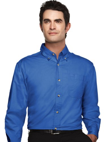 Tri Mountain Peak Performers 720 Ambassador 60/40 Easy Care Woven Shirt French Blue XL -