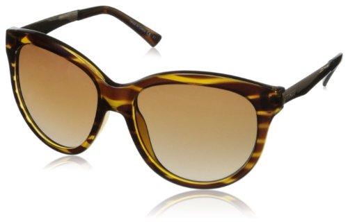 VonZipper Women's Cheeks Round Sunglasses,Tortoise Gloss,54 mm