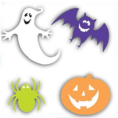 30 Piece Assortment Halloween Ghosts Bats Spider Pumpkins Cutout (Ghost Cutouts)