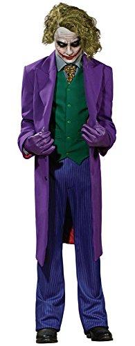Batman The Dark Knight Grand Heritage Deluxe Costume And Mask, The Joker, Purple, Large