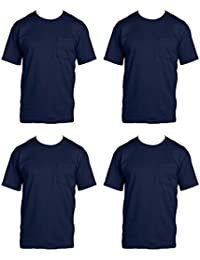 Men's 4-Pack Pocket Crew-Neck T-Shirt - Colors May Vary