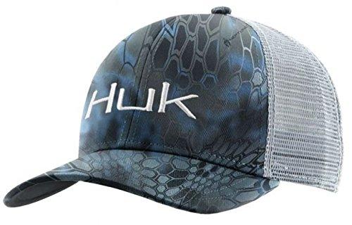 Logo Trucker Cap - Huk Kryptek Logo Trucker Cap, Kryptek Neptune/White, One Size
