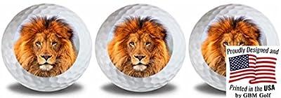 GBM Golf Wild Animal Lion Golf Balls 3 Pack
