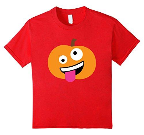 Kids Pumpkin Wacky Emoji Face Halloween Costume T-shirt 4 (Wacky Halloween Costumes)