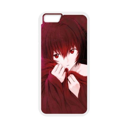 Ayanami Rei coque iPhone 6 4.7 Inch Housse Blanc téléphone portable couverture de cas coque EBDOBCKCO11637