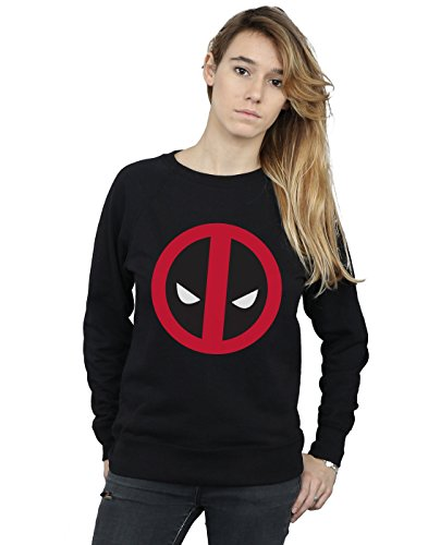 Negro Large Clean Deadpool Logo Camisa De Marvel Mujer Entrenamiento 8BHUqHx