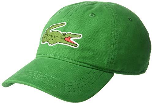 Lacoste Men's Classic Big Croc Gabardine Cap, Rocket Green, One Size (Green Watch For Lacoste Men)