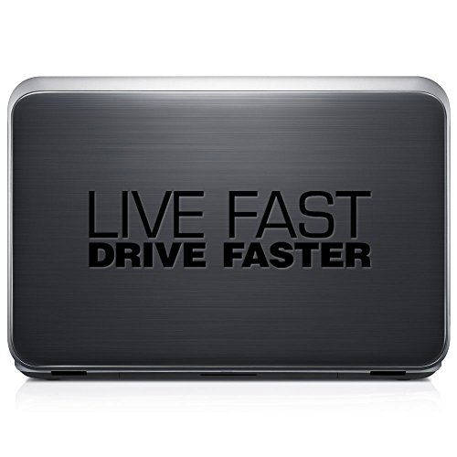 Live Fast Drive Faster Japanese JDM PERMANENT Vinyl Decal Sticker For Laptop Tablet Helmet Windows Wall Decor Car Truck Motorcycle - Size (15 Inch / 38 Cm Wide) - Color (Gloss Black) by GottaLoveStickerz