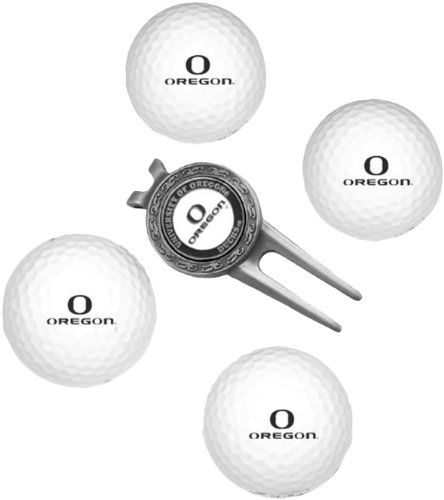 NCAA Oregon Ducks 4 Golf Ball And Divot Tool Set
