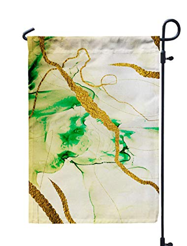 GROOTEY Welcome Outdoor Garden Flag Home Yard Decorative 12X18 Inches Abstract Clouds Art Transparent Creativity Inspired by The Sky As Well Steam Smoke Ink Colors Double Sided Seasonal Garden Flags