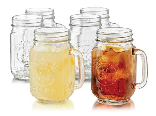 Libbey 6-Piece Country Folk Collection County Fair Glass Dri