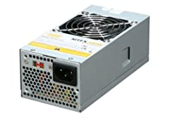Details300 Watts +3.3V@13A, +5V@13A, +12V1@9A, +12V2@9A, -12V@0.8A, +5VSB@2.5AIncludes internal 40mm ball-bearing fan and thermal fan speed control for maximum heat and noise dissipation. Designed for the TFX form factor to provide compact fl...