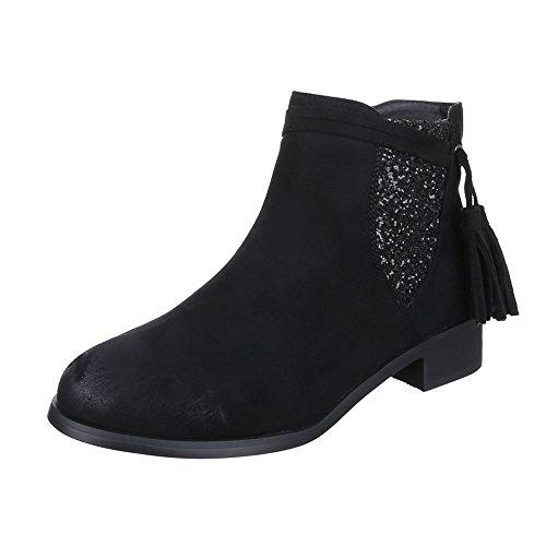 Ital-design - Femme Bottes Chelsea, Couleur Noire, Taille 37 Eu