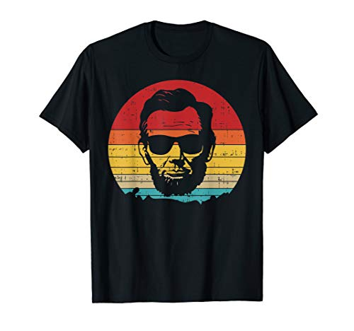 (4th of July for Men Retro Sunset Vintage Abe Abraham Lincoln)