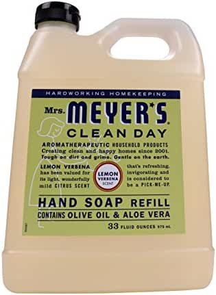 Mrs. Meyer's Clean Day Liquid Hand Soap Refill Lemon Verbena, 33 Fluid Ounce