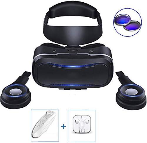 バーチャルリアリティのメガネ 3Dメガネ K歌/ゲーム/映画鑑賞 に適しています 4.7-6.0インチ IOS/Android 携帯電話,黒,A