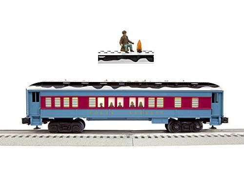 Lionel 684602 The Polar Express Disappearing Hobo Car, O Gauge, Blue, Red, Black, White, Gold