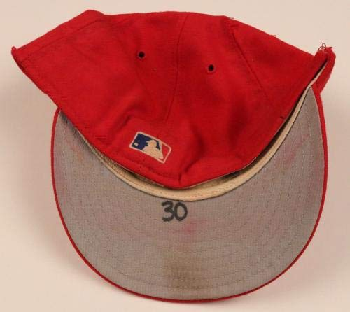 Aaron Sele Rangers Signed Game Used Worn Hat/Cap Rangers LOA Game Used MLB Hats