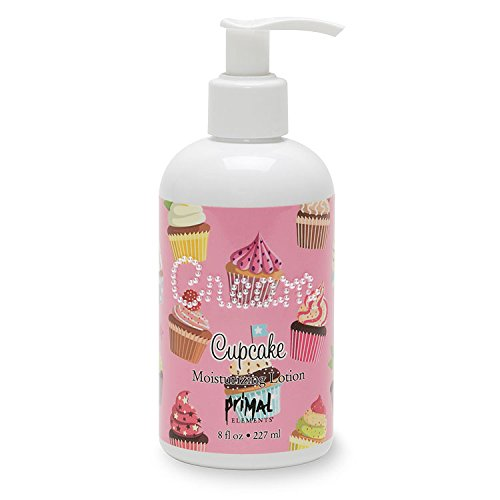 Primal Elements Hand and Body Cream Shea Butter Lotion, 8 OZ, Cupcake.
