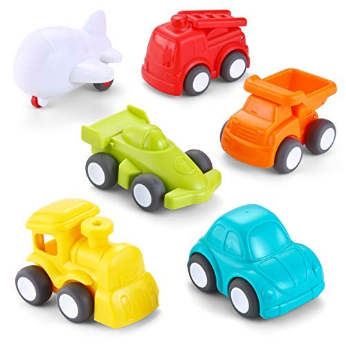 Great Deal! JOYIN 6 Pack Toddler Car Toys Push Go Free Wheel City Traffic Little Cars Baby Car Toys ...