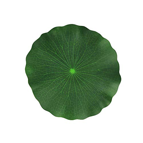Aland Artificial Lilies Pad Realistic Non-Toxic Floating Water Mat for Home Garden Patio Koi Pond Aquarium Swimming Pool Bird Baths Wedding Party Decor 28cm