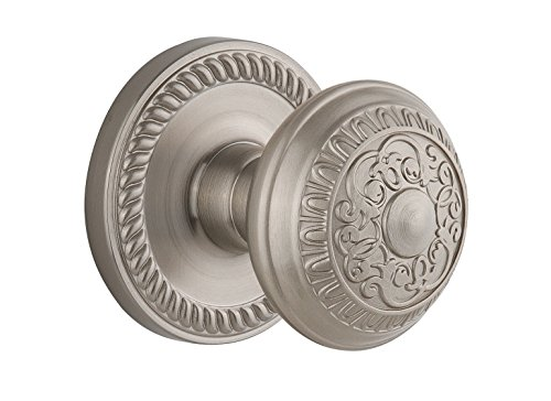 - Grandeur Newport Rosette with Windsor Knob, Single Dummy, Satin Nickel