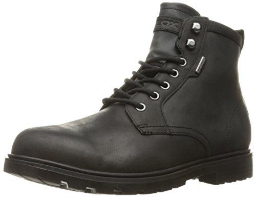 Image of Geox Men's Makimbabx3 Rain Shoe, Black Leather, 45 EU/12 M US
