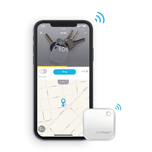 SwiftFinder ST02, Key Finder, Phone Finder, [Replaceable Battery with up to 15 months] Bluetooth Tracker for Keys, Wallet, Bag, Smart Tag with App Control for iPhone and Android