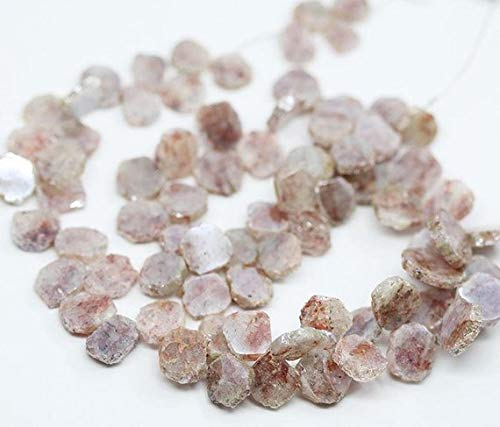 14 Heart Hammered Mm - Natural Silverite Smooth Slice Uneven Rough Hammered Loose Craft Beads Strand 8