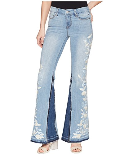 Liverpool Womens LVPL Farrah Super Flare with Embroidered in Vintage Super Comfort Stretch Denim in Beverly Wash ()