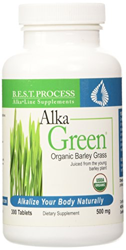 Dr. Morter's Alka Green (Barley) by Morter Healthsystem - 300 Tablets (Best Process Alka Green)