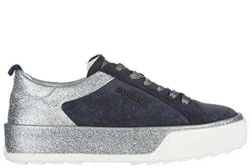 Hogan Rebel Kære Sko Sneakers Damer Ruskind Sko Sneakers R320 Blu OzO52