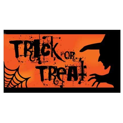 (VictoryStore Halloween Decorations: Halloween Banner - Trick or Treat Waterproof Vinyl Banner (3')