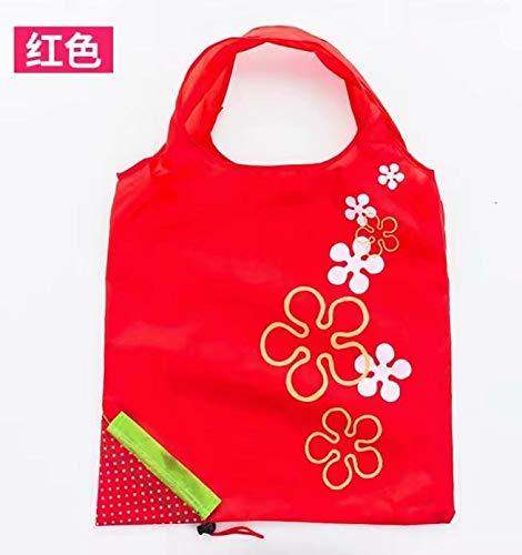 2 piezas selección colores diseño de fresas plegable ECO bolsa bolsas de la compra reutilizable