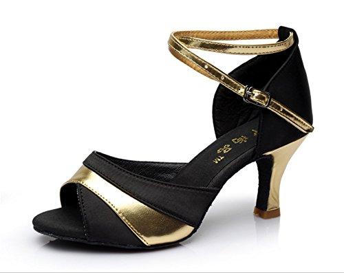 Carré Gold 35 Les Latines Des Femmes Mou Latin Adultes Chaussures Tmkoo Color À Fond amp; Taille Dans Avec Talons Danse Hauts De Nouvelles BfWqIRgF