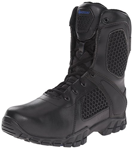 Bates Women's Strike 8 inch Side Zip Military and Tactical Boot, Black, 6 M US