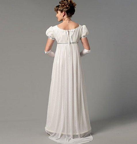 M7493 Sewing Pattern Costume Women Regency Ball Jane Austen Dress Coat Sz 6-14